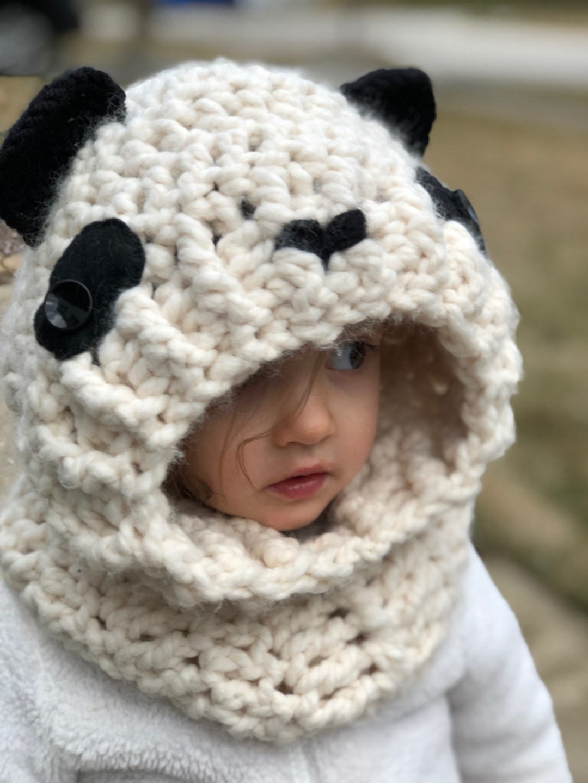 Hooded Panda Cowl A Purpose And A Stitch
