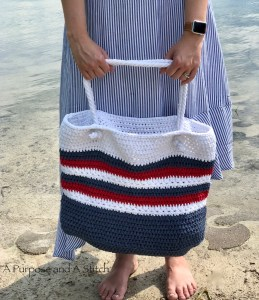 Star Spangled Beach Tote- Free Pattern