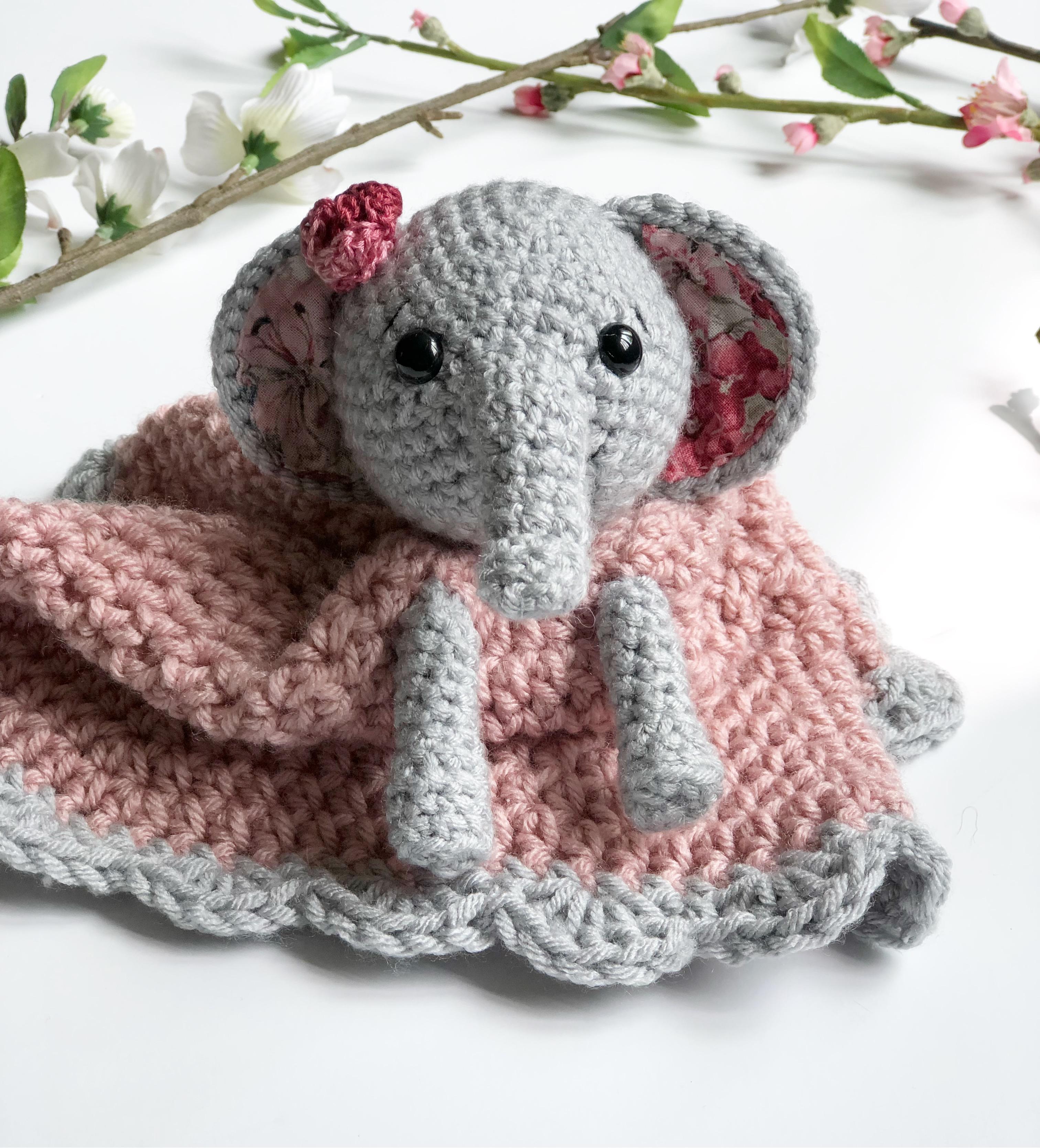 Ellie the Elephant Lovey- Free Pattern