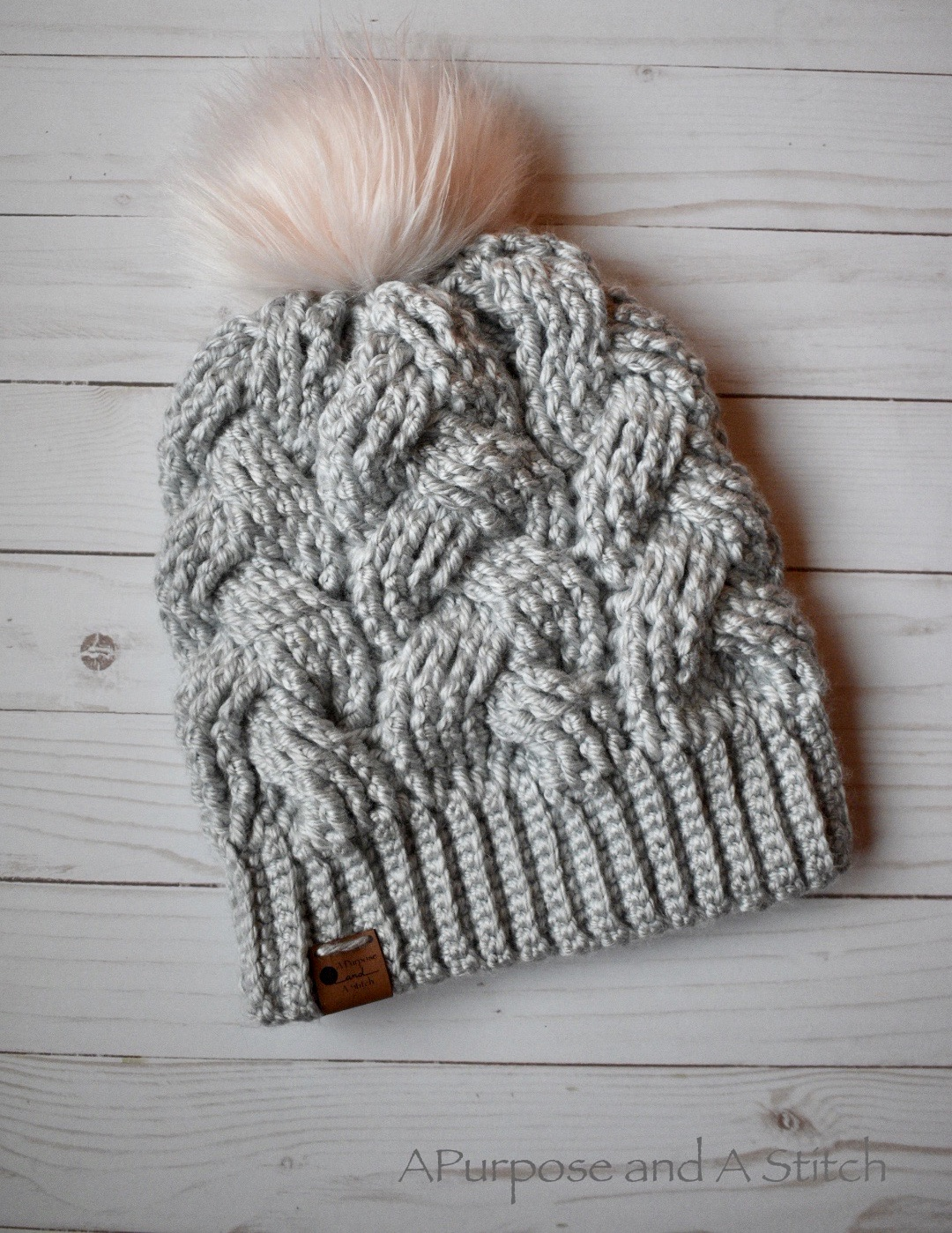 Brilliant Cables Beanie- Free Crochet Pattern
