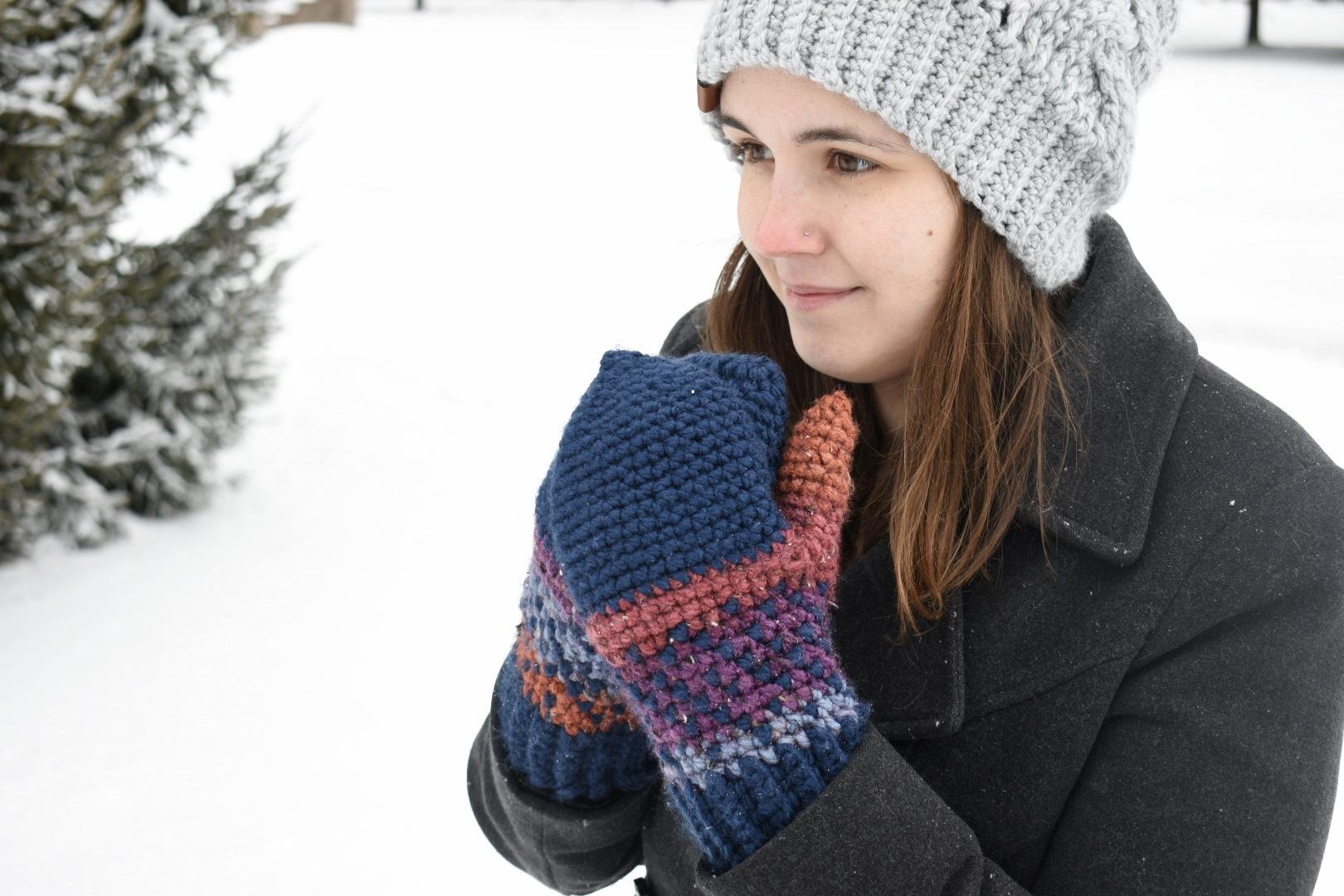 Crossway Mittens- Free Crochet Pattern