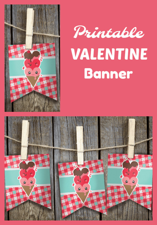 photo about Valentine Banner Printable identified as Printable-Valentine-Banner - Cara Harvey
