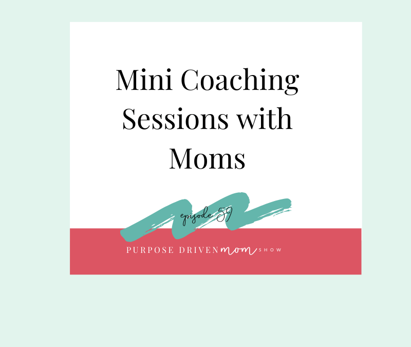 Mini Coaching Sessions With Moms