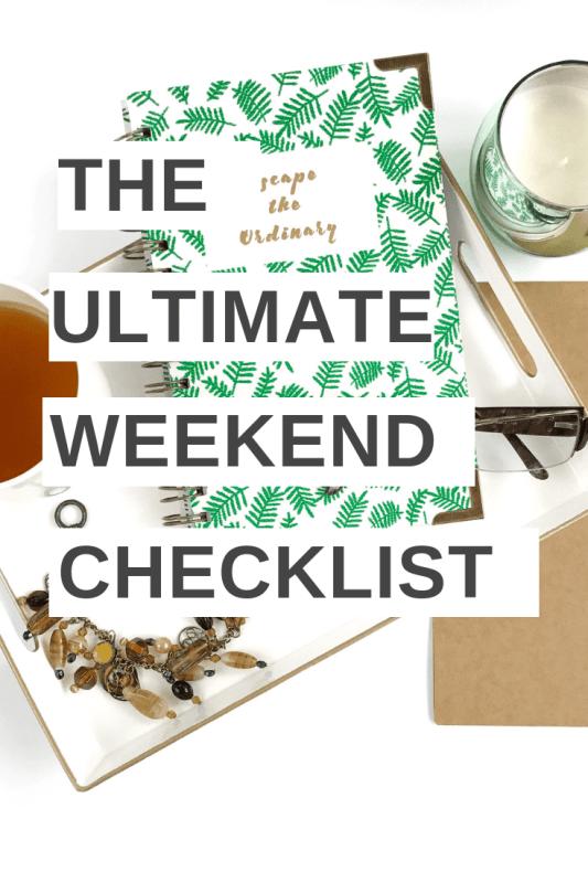 Weekend-Checklist