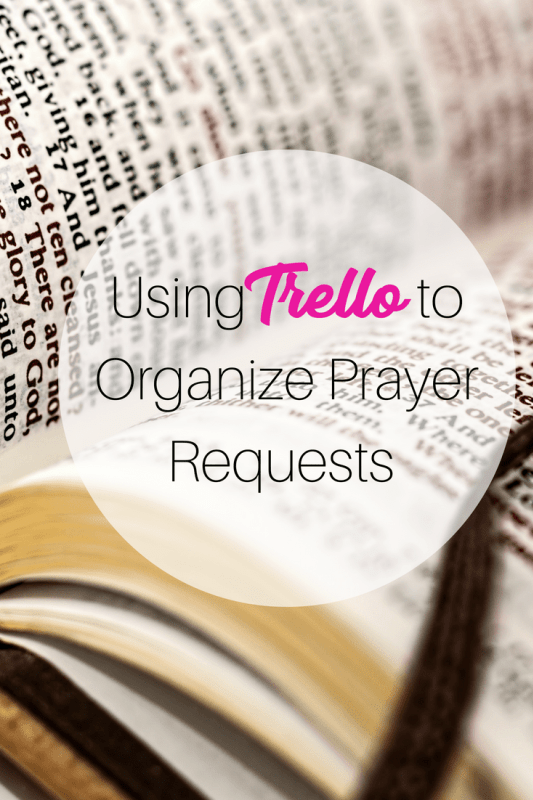 digitally organize prayer requests