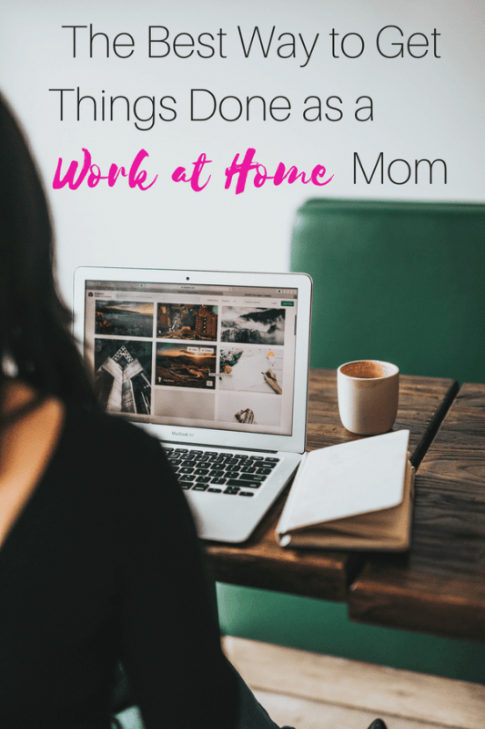 work at home mom schedule