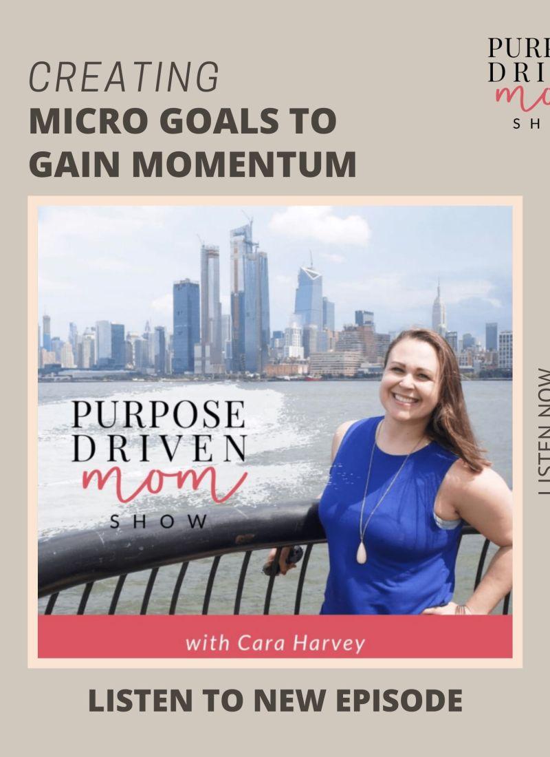 Creating Micro Goals to Gain Momentum