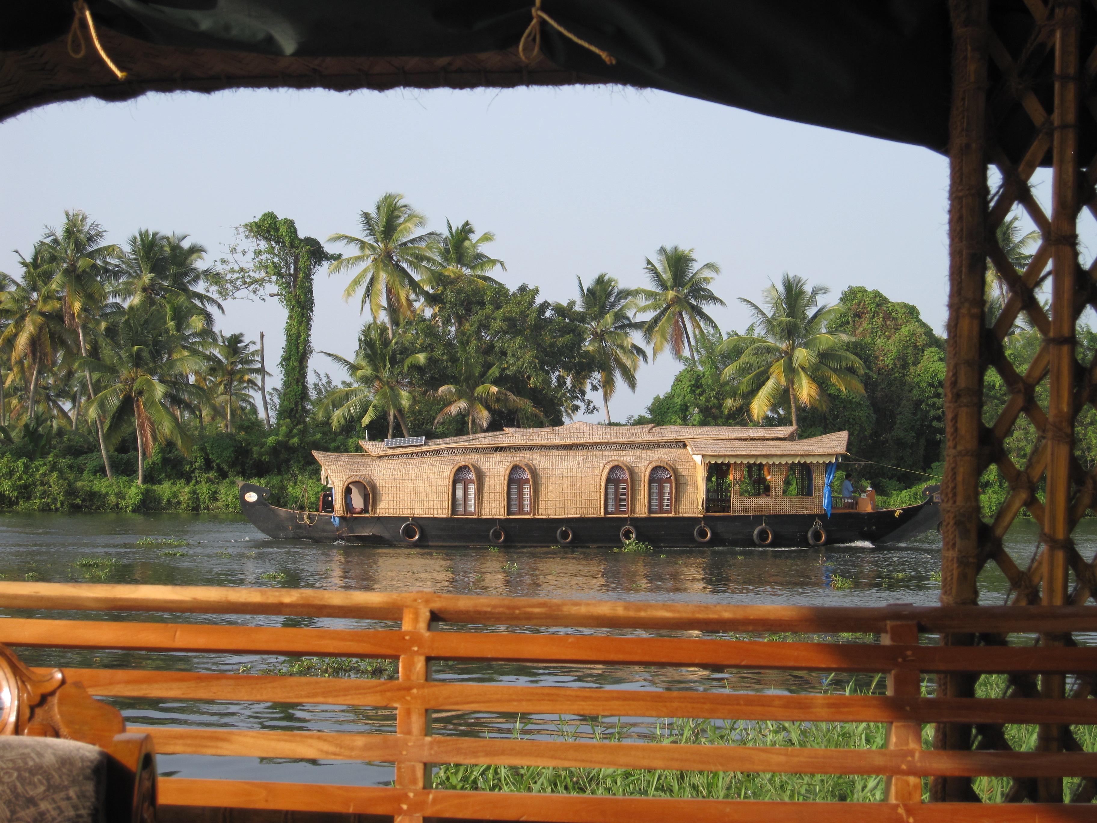 Houseboats along the backwaters
