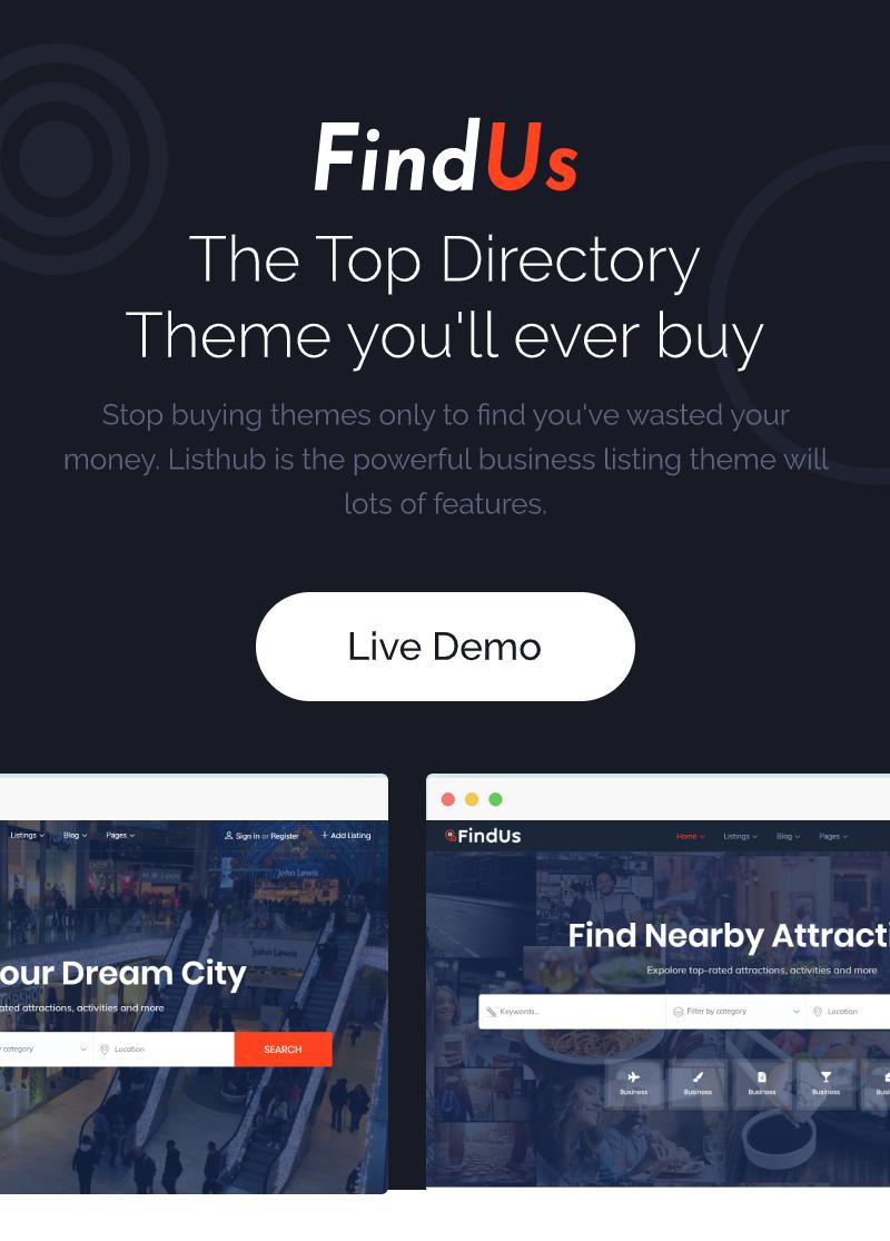 Findus - Directory Listing WordPress Theme - 4