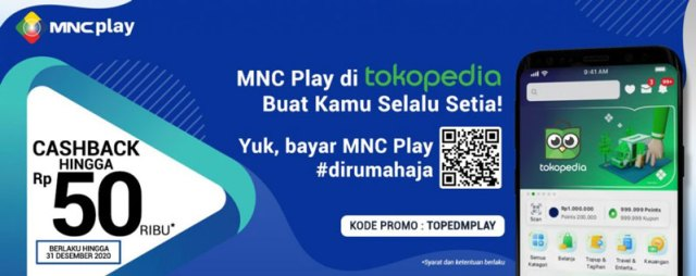 Promo MNC Play Tokopedia