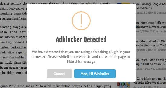 Pasang adblocker