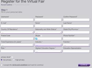 virtual job fair registration