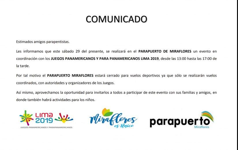 Comunicado Parapuerto_20190726