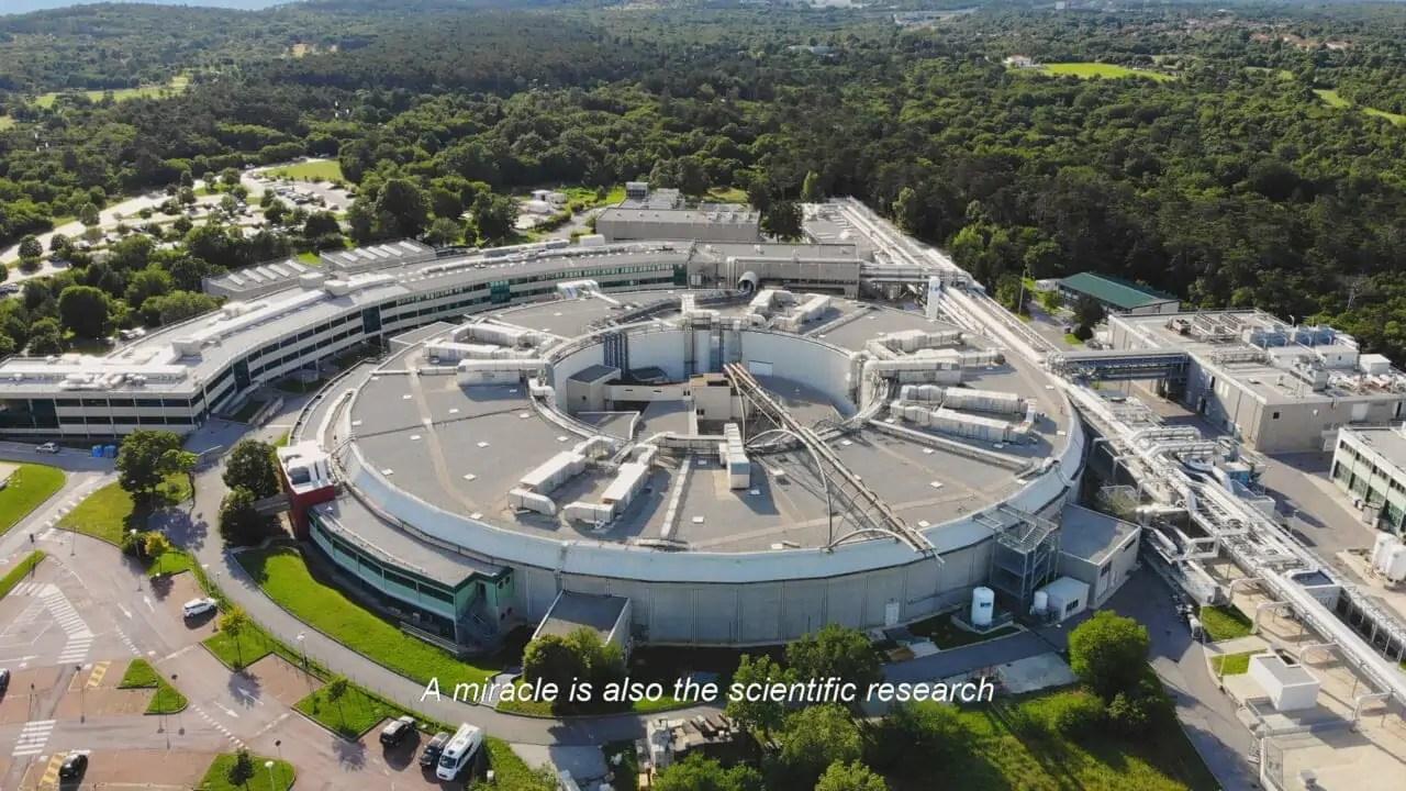 Still from the ESOF Trieste 2020 spot produced by APZmedia