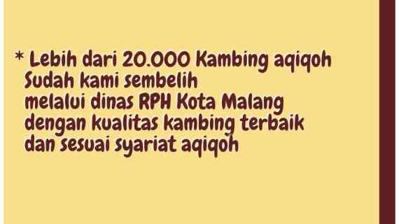 Lebih dari 20.000 ekor Kambing yang Telah Disembelih di RPH Kota Malang