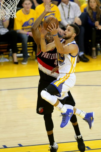 Golden State Warriors against the Portland Trail Blazers Game 1 playoffs