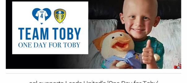 images: aql supports Leeds United's 'One Day for Toby'