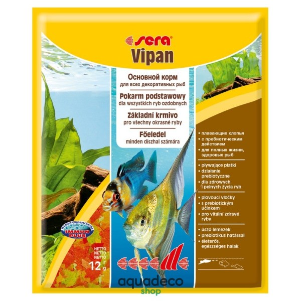 Sera vipan - универсальный корм. Хлопья 12 g: купить в Киеве с доставкой