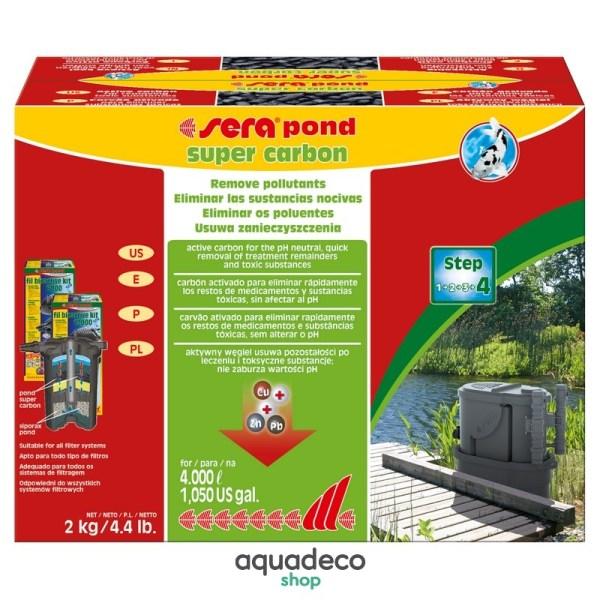 Sera pond super carbon - уголь активов. для Ставки / фильтров 2 кг: купить в Киеве с доставкой