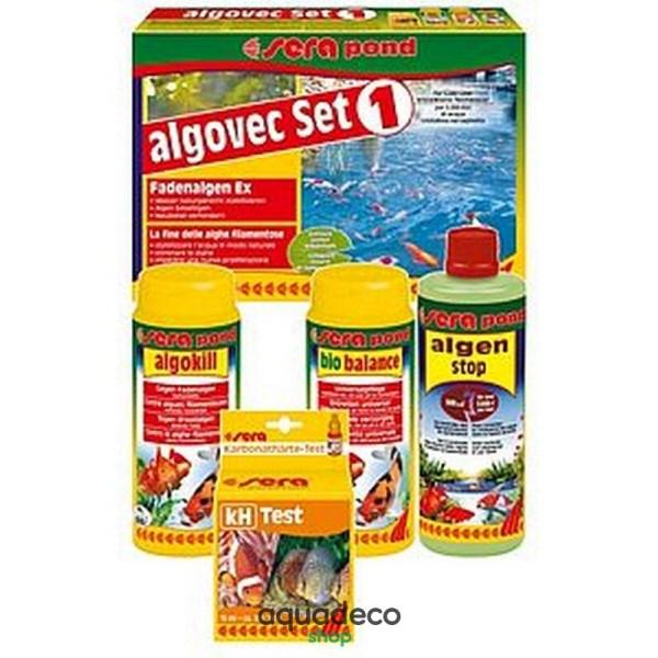 Sera pond algovec Set 1 - комплект для удаления нитчатых водорослей в пруду на 5000 л: купить в Киеве с доставкой
