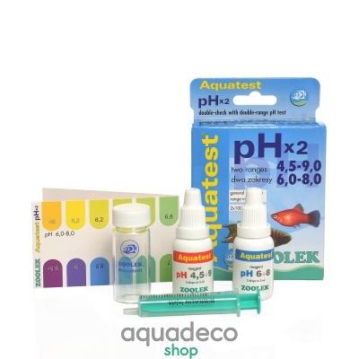 Купить Тест pH (4,5-9,0)_(6,0-8,0) Zolek Aquatest pH x2 в Киеве с доставкой по Украине