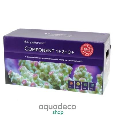 Купить Микро и макроэлементы для морского аквариума Aquaforest Component 1+, 2+, 3+, 3x5л Баллинг-метод в Киеве с доставкой по Украине