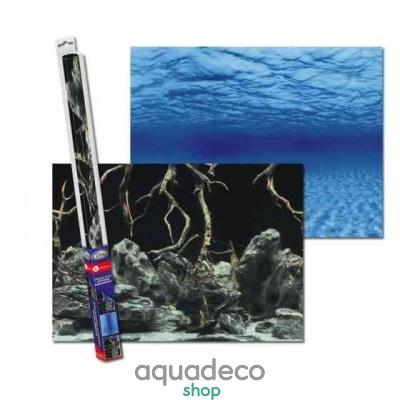 Купить Аквариумный задний фон Aqua Nova Синее море_Камни с корягами в Киеве с доставкой по Украине