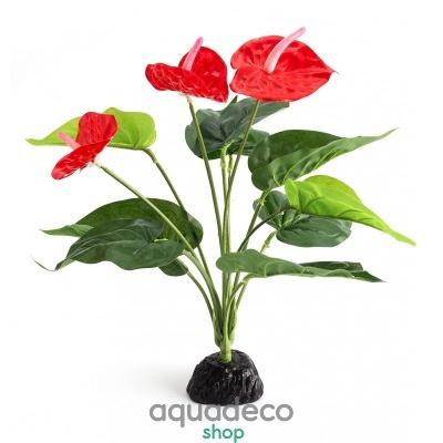 Купить Искусственное растение Repti-Zoo Anthurium TP013 в Киеве с доставкой по Украине