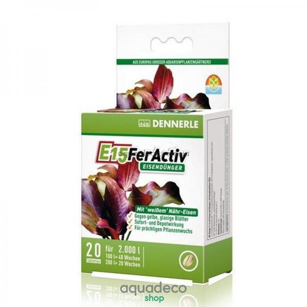 Железосодержащее удобрение  длительного действия для всех аквариумных растений в таблетках E15 FerActiv, 20 шт.: купить в киеве, цена, фото, обзор, инструкция. Aqua-Deco.com.ua