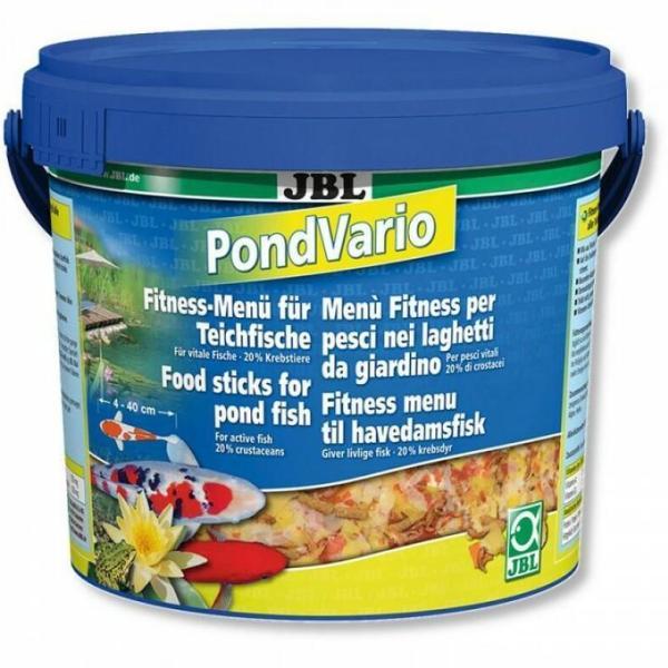 JBL PondVario смесь кормов для любых прудовых рыб, 10.5 л