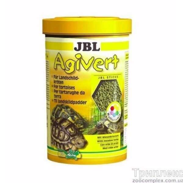 Основной корм JBL Agivert для сухопутных черепах длиной 10-50 см