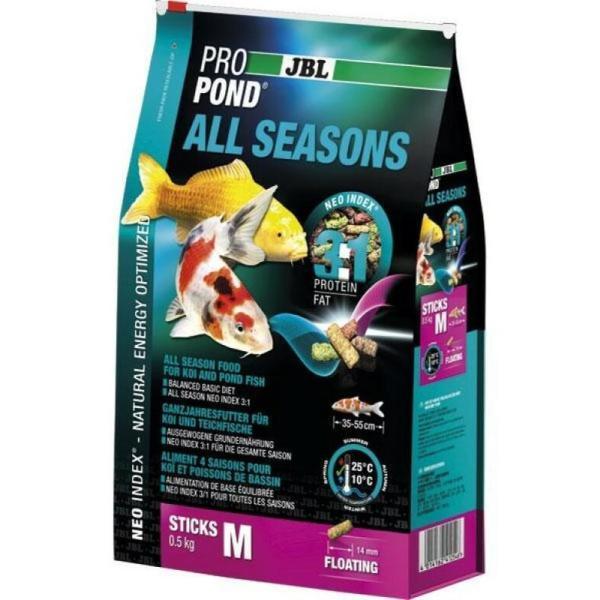 Всесезонный корм JBL ProPond All Seasons M для средних кои и других прудовых рыб