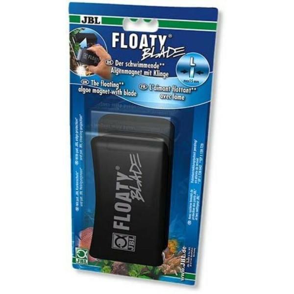 Плавающий магнитный скребок с лезвием JBL Floaty Blade L для чистки толстых аквариумных стекол 15 мм: купить в Киеве