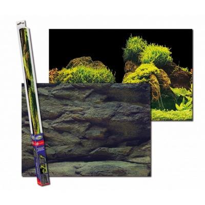 Аквариумный задний фон AQUA-NOVA Скалы_Растения ROCK_PLANTS XL (ROCK/PLANTS XL) ROCK PLANTS XL AquaDeco Shop