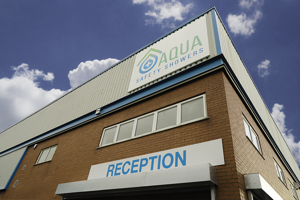 Aqua Safety Showers new address: Aqua Safety Showers, Redgate Road, South Lancashire Industrial Estate, Ashton-in-Makerfield, Wigan, WN4 8DT.