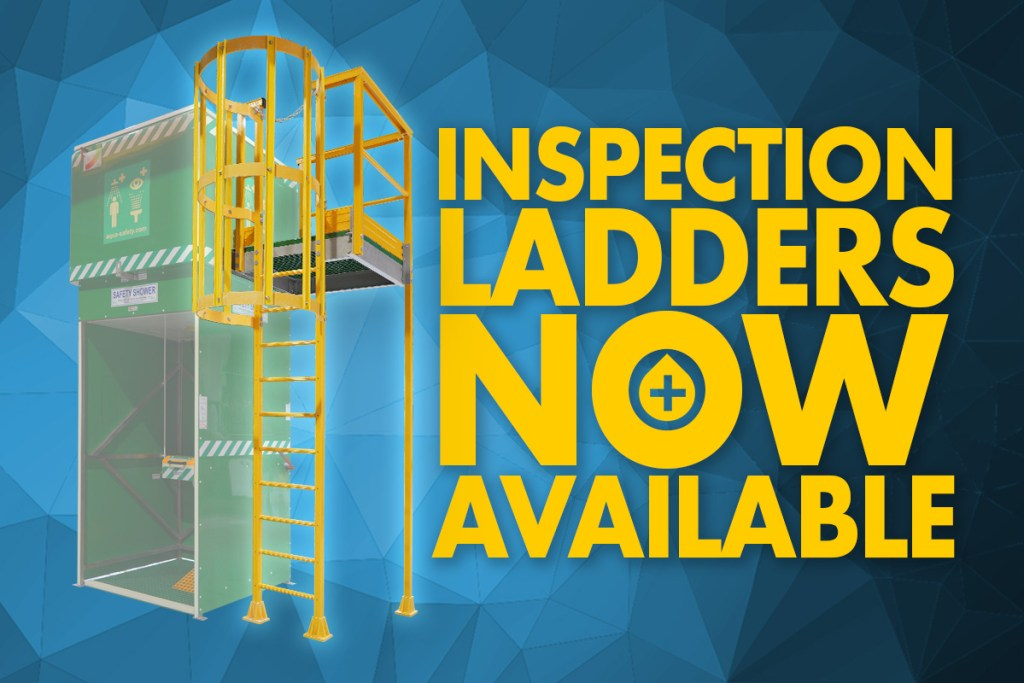Easily inspect your Aqua Tank Shower with our new GRP inspection ladders.