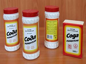 Soda pentru țevi de curățare