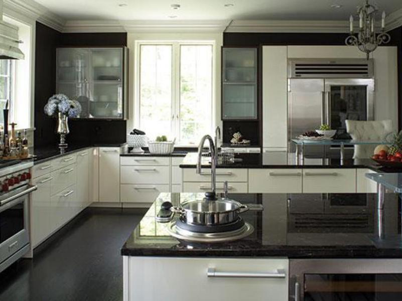 Black Granite Countertops   Luxurious Look for Kitchens Black Granite Countertops   a Daring Touch of Sophistication to the Kitchen