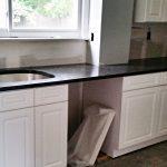 Steel Gray Granite Countertop Installation Project In Woodridge Nj