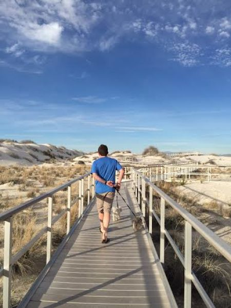 white sands boardwalk