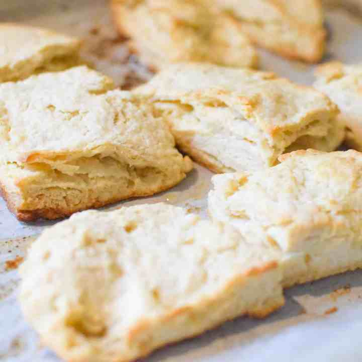 biscuits on a cookie sheet