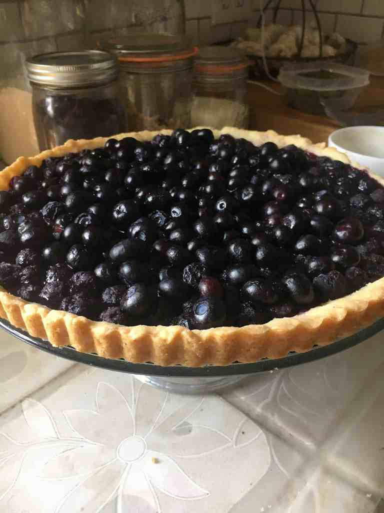 blueberry pie upclose practicing hospitality