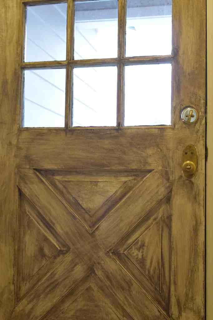 an upclose shot of a dry brushed door