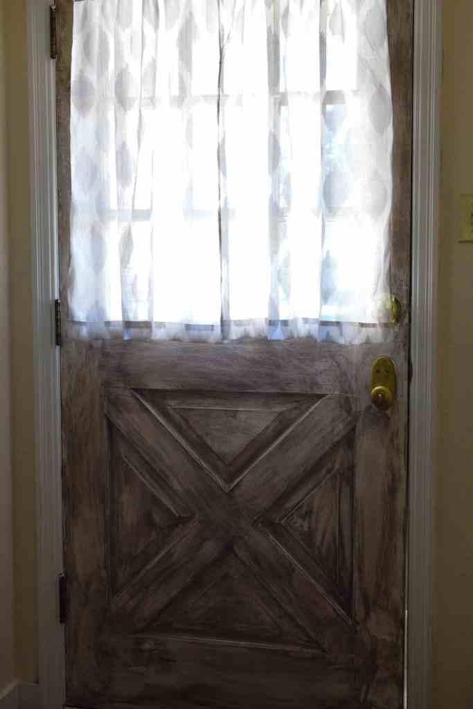 a dry burshed door