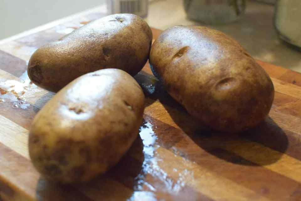 three large potatoes