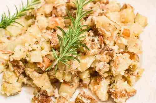 roasted rosemary potato salad upclose