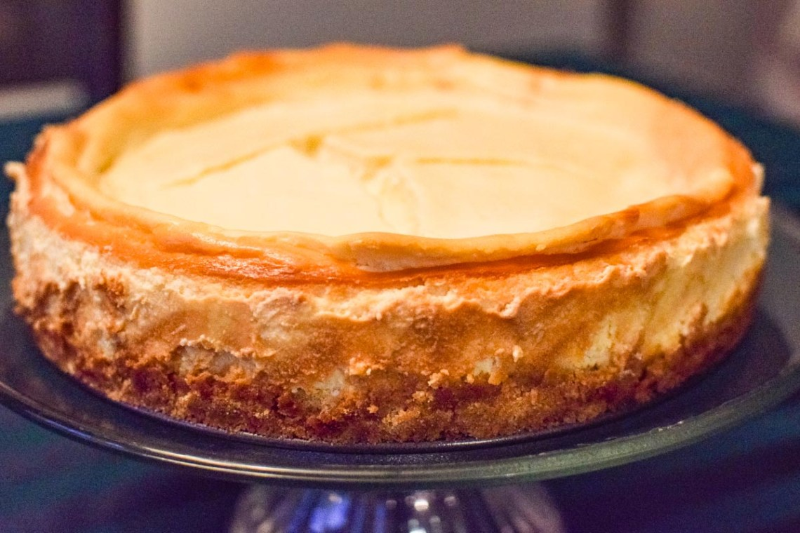 a classic cheesecake upclose