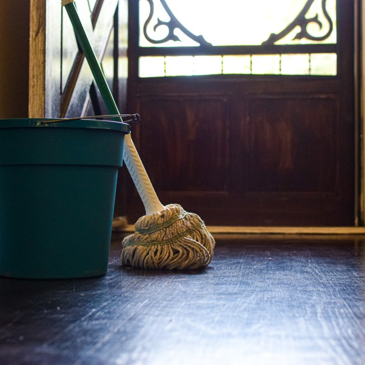 natural floor cleaner with mop and bucket