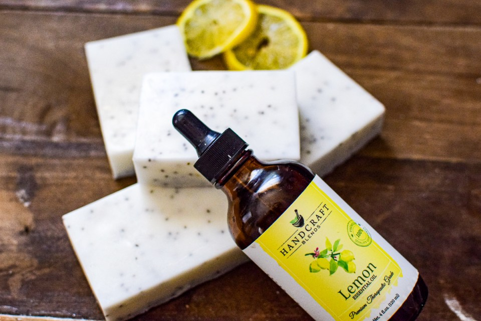 essential oil and soap bars
