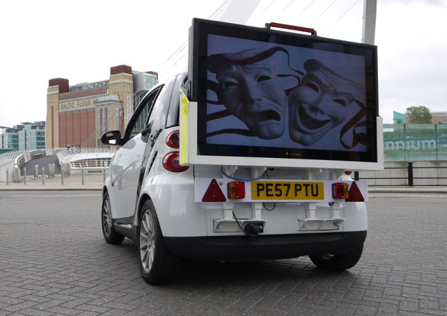 Outdoor Mobile Advertising Display